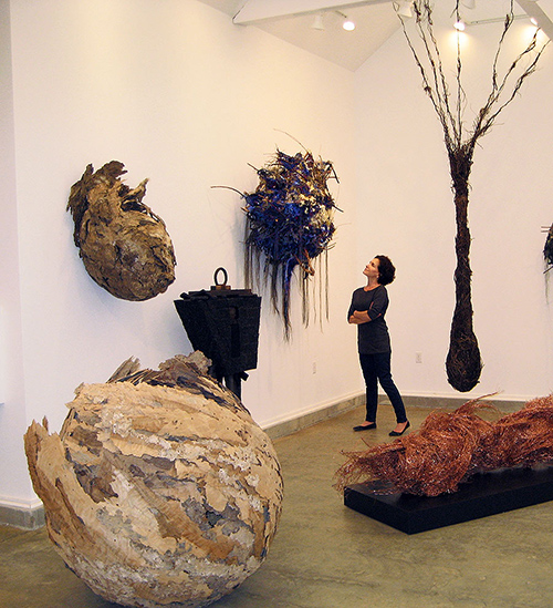 Donna Forma in her Connecticut Art Gallery