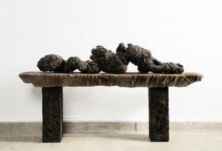 MOVING BEYOND RESTRAINT by Natural Sculpture Artist Donna Forma