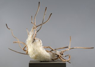 GLUE & WOOD by Natural Sculpture Artist Donna Forma