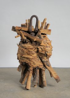 WOOD & STEEL by Natural Sculpture Artist Donna Forma