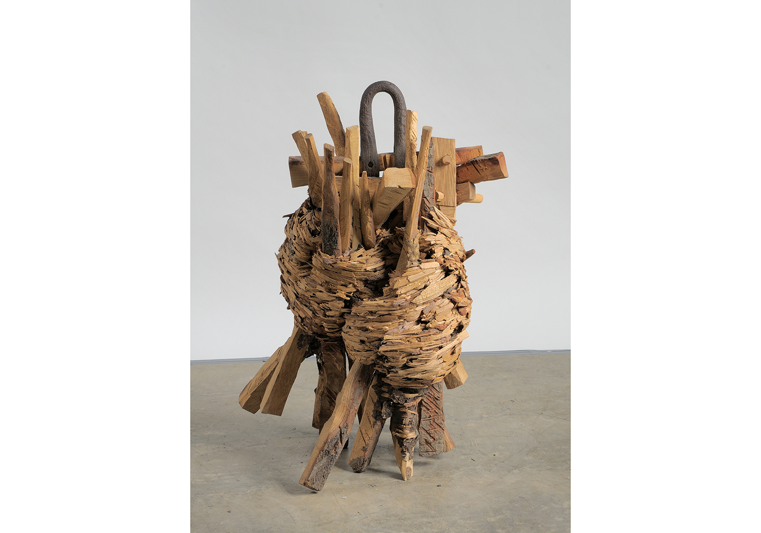 Wood and Steel natural art sculpture from Donna Forma